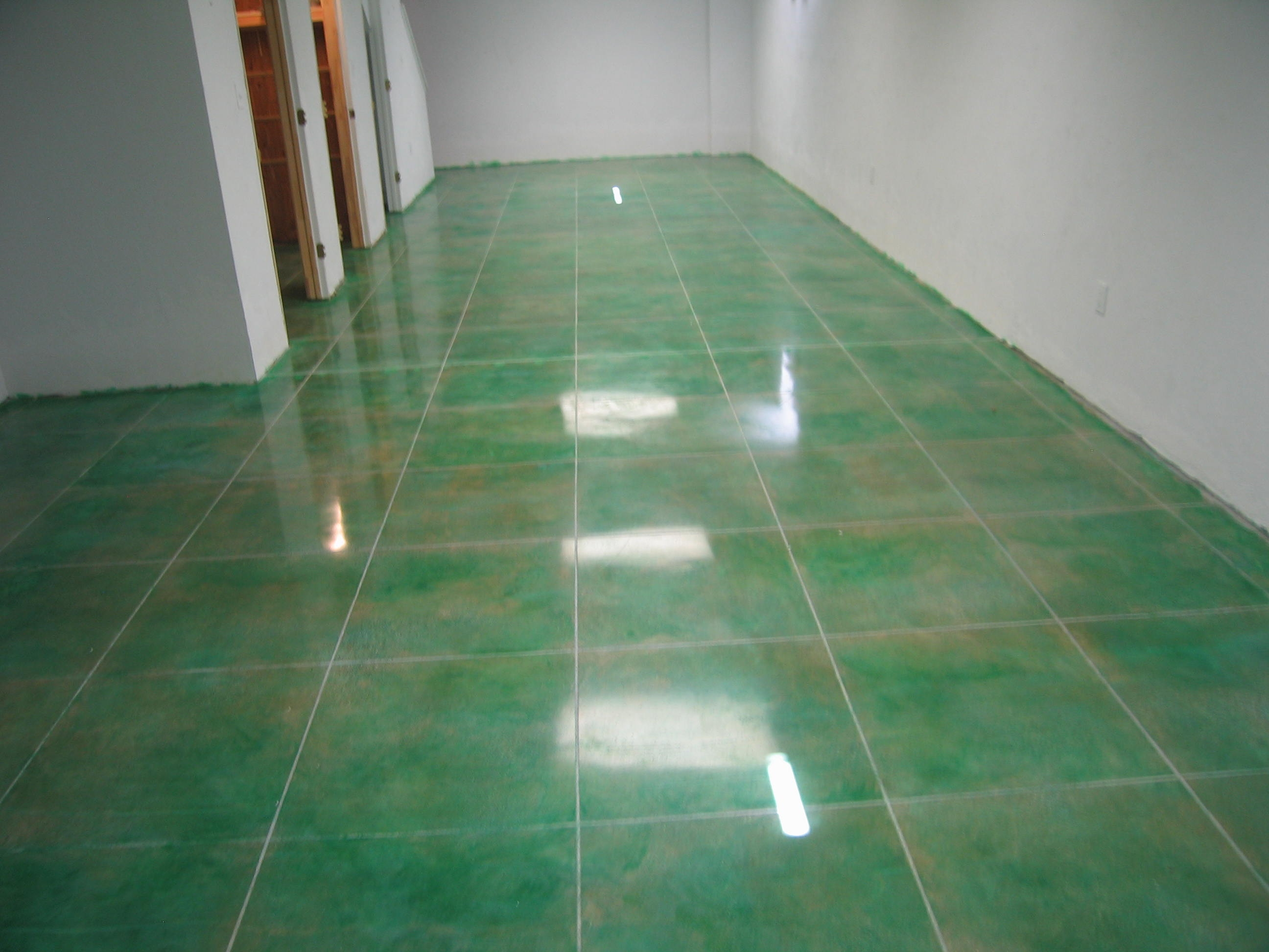 faux grout lines or virtually any design or pattern can be cut into a polished  concrete floor ...